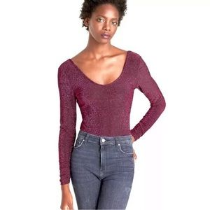 NWT ZARA Knit Shimmer Metallic Thread Body…